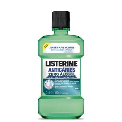 Antisséptico Bucal Listerine Anticáries Zero Álcool 500ml