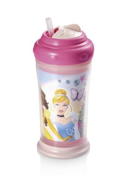 Copo Térmico com Canudo de Silicone Princesas Multikids Baby - BB090