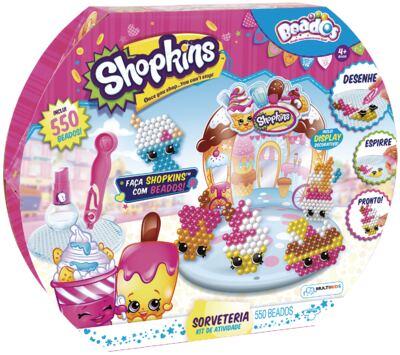 Beados Shopkins Atividades Sorveteria - BR575