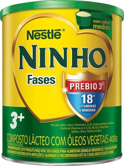 Imagem 1 do produto Composto Lácteo Nestlé Ninho Fases 3+ 400g