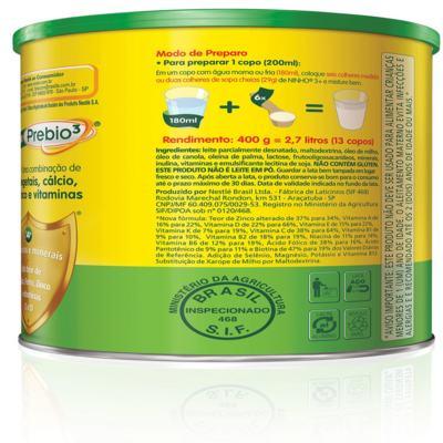 Imagem 3 do produto Composto Lácteo Nestlé Ninho Fases 3+ 400g