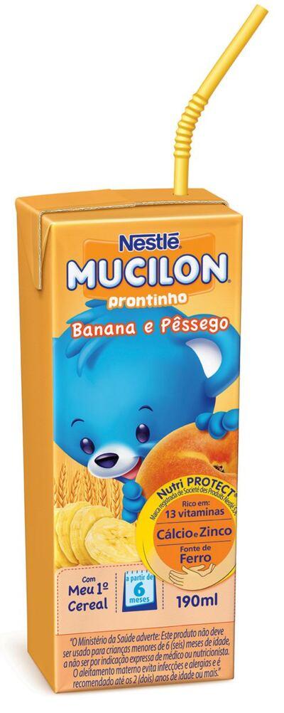 Imagem 1 do produto Bebida Láctea Nestlé Mucilon Prontinho Banana com Pêssego 190ml