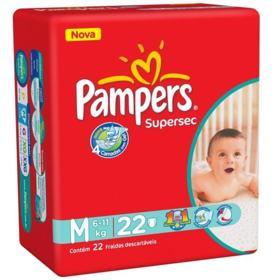Fralda Pampers Super Sec - M | 22 unidades