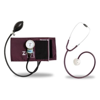 Imagem 5 do produto Kit Esteto Simples Com Aparelho de Pressão Bordo P.A. Med- excluir