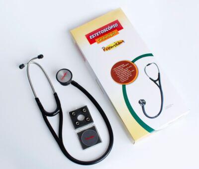 Imagem 4 do produto Kit Esteto Cardiológico Preto com Aparelho de Pressão Vinho Premium