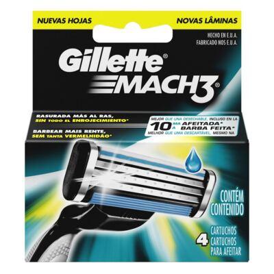 Imagem 1 do produto Carga Gillette Mach3 - 4 Unidades
