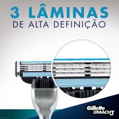 Imagem 3 do produto Carga Gillette Mach3 - 4 Unidades