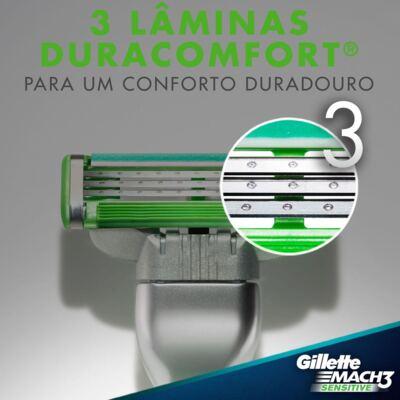 Imagem 3 do produto Carga Gillette Mach 3 Sensitive - 2 Unidades