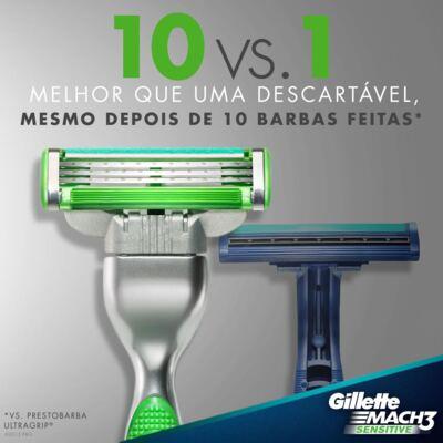Imagem 5 do produto Carga Gillette Mach 3 Sensitive - 2 Unidades