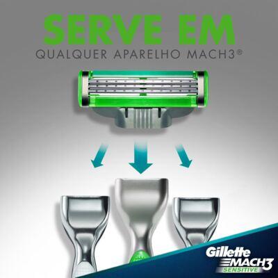 Imagem 6 do produto Carga Gillette Mach 3 Sensitive - 2 Unidades