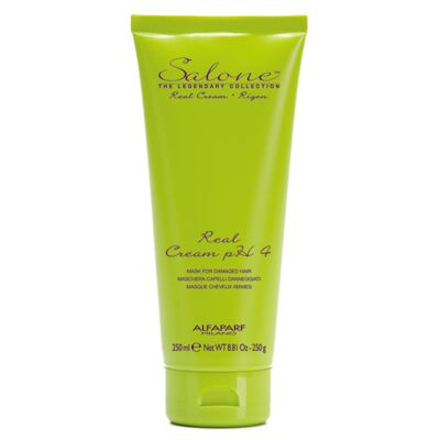 Imagem 1 do produto Alfaparf Salone Real Cream PH4 - Máscara Reestruturante - 250ml