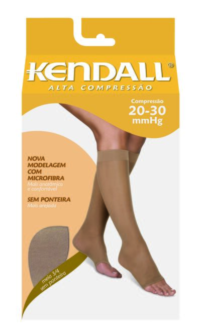 Meia Panturrilha 20-30 Alta Kendall - PRETO PONTEIRA FECHADA G