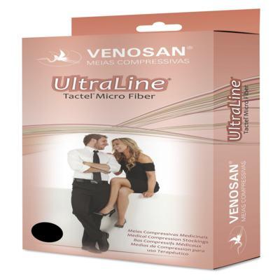 Meia Calça AT 20-30 mmHg Ultraline 4000 Venosan - PONTEIRA FECHADA PRETO G