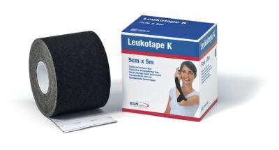 Leukotape 5 Cm X 5 M Preto Bsn Medical