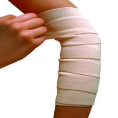 Atadura Elástica Bandagem Bege Bc110 Mercur - 15x120cm