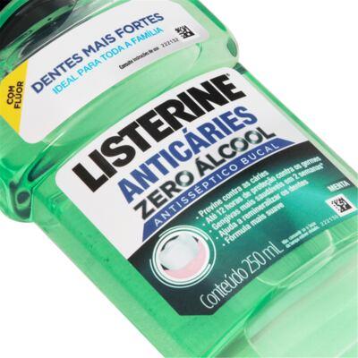 Imagem 3 do produto Antisséptico Bucal Listerine Anticáries Zero Álcool 250ml