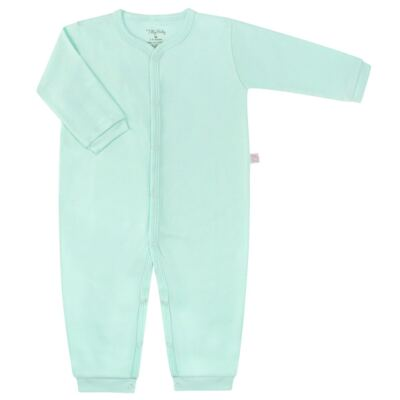 Macacão longo para bebe em suedine Mint - Tilly Baby - TB13113.11 MACACAO BASICO DE SUEDINE VERDE-GG