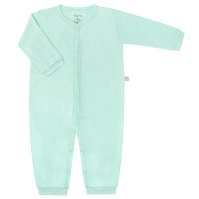 Macacão longo para bebe em suedine Mint - Tilly Baby - TB13113.11 MACACAO BASICO DE SUEDINE VERDE-M