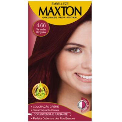 Kit Maxton Tintura Prático 4.66 Vermelho Borgonha
