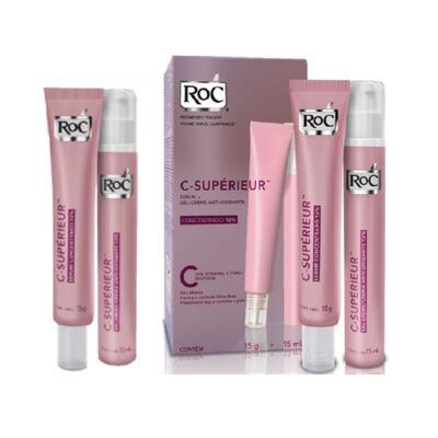 Roc C Superieur Concentrado 16% + Gel Creme Roc C Superieur Olhos 15g
