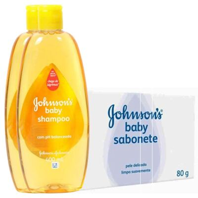 Imagem 1 do produto Shampoo Johnson's Baby 200ml + Sabonete Johnson's Baby Regular 80g