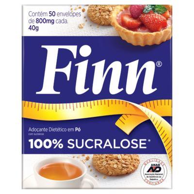 Adoçante em pó Sucralose Finn - 50 envelopes