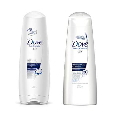 Shampoo e Condicionador Dove Reconstrução Completa + Creme Óleo Nutrição