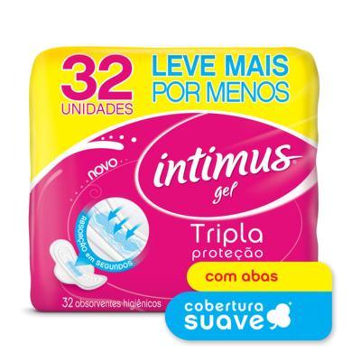 Imagem 1 do produto Absorvente Intimus Gel Suave  Abas 32 Unidades