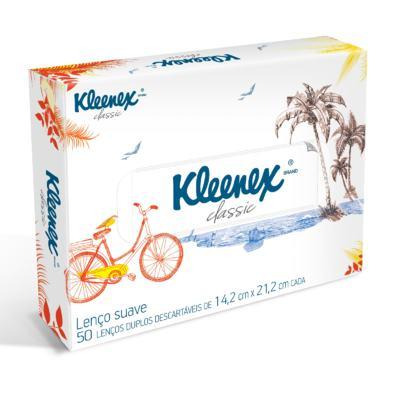 Lenço de Papel Kleenex Box Misto 50 Folhas