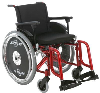 Cadeira de Rodas Ágile Vermelho Metálico Jaguaribe