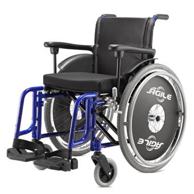 Cadeira de Rodas Ágile Azul Metálico Jaguaribe