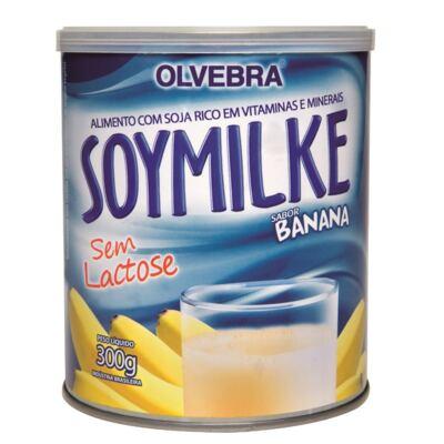 Imagem 2 do produto Kit Olvebra Soymilke Banana 300g + Barra Choco Soy Crispies 23g