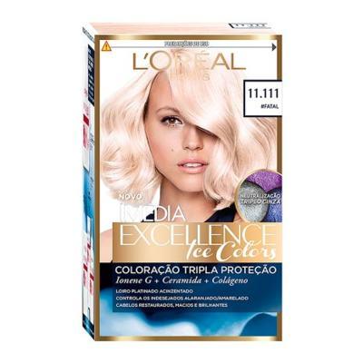Tintura Creme Imédia Excellence L'oréal Ice Colors #Fatal 11.111 Kit