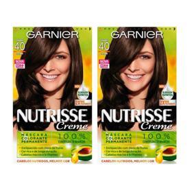 Coloração Garnier Nutrisse Creme - 40 Castanho | 1 unidade | 50% De Desconto Na 2ª Unidade