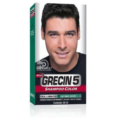 Imagem 1 do produto Tintura Grecin 5 Shampoo Color Castanho Escuro