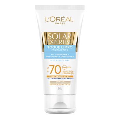 Protetor Solar L'Oréal Paris Solar Expertise Facial Toque Limpo com Cor FPS 70 - 50ml