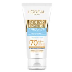 Protetor Solar Facial L'Oréal Paris Solar Expertise - Toque Limpo com Cor FPS 70 | 50g