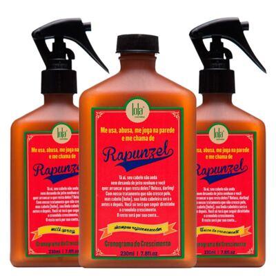 Imagem 1 do produto Kit Shampoo + Tratamento Antiqueda + Leave-in Lola Cosmetics Rapunzel - Kit