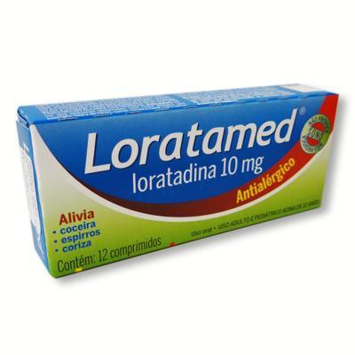 Imagem 1 do produto Loratadina - Loratamed Comprimido - 10mg, caixa com 12 comprimidos - Cimed -