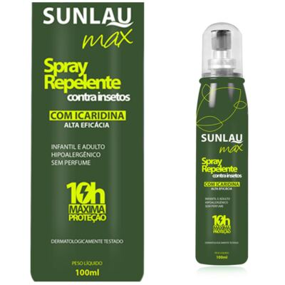 Repelente Sunlau com Icaridina Max Spray 100ml
