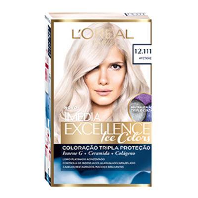Tintura Imédia Excellence L'Oréal Ice Colors 12.111 Louro Fetiche