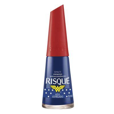 Imagem 1 do produto Esmalte Cremoso Risqué Mulher Maravilha Azul Estrelado 8ml