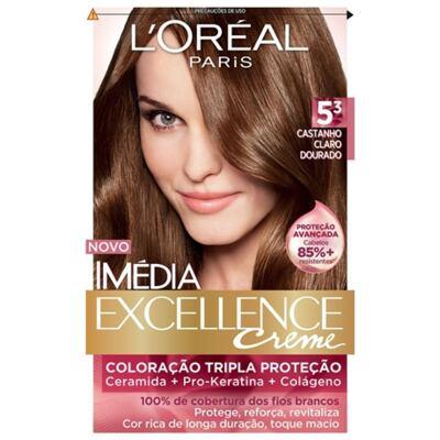 Imagem 1 do produto Tintura Imédia L'Oréal 5.3 Castanho Claro Dourado