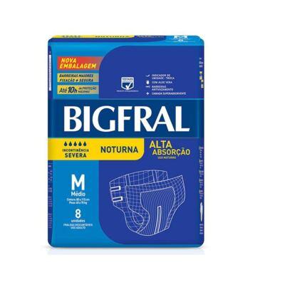 Fralda Geriátrica Bigfral Noturna Média 8 Unidades