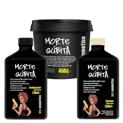 Kit Shampoo + Condicionador + Máscara Capilar Lola Cosmetics Morte Súbita - Kit
