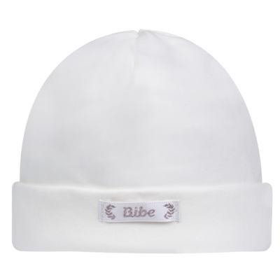 Touca para bebe em algodão egípcio Branca - Bibe - 10Y05-01 TOUCA BAS CRISTAL BRANCA -RN