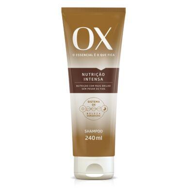 Shampoo OX Oils Nutrição Intensa 240ml