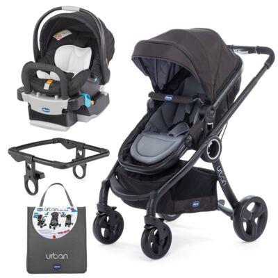 Imagem 1 do produto Urban Travel System: Carrinho Urban Plus + Color Pack Anthracite + Poltrona Keyfit Night - Chicco