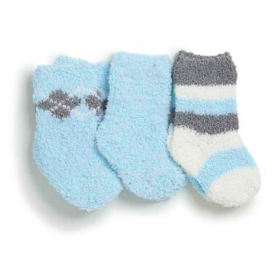 Imagem 1 do produto Kit com 3 meias soquete para recém nascido Soft Azul - Puket - PK6980-A RN TRIPACK SOFT VARIANTE AZUL-0/4