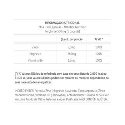 Imagem 2 do produto ZMA 90 Cápsulas - Atlhetica Nutrition